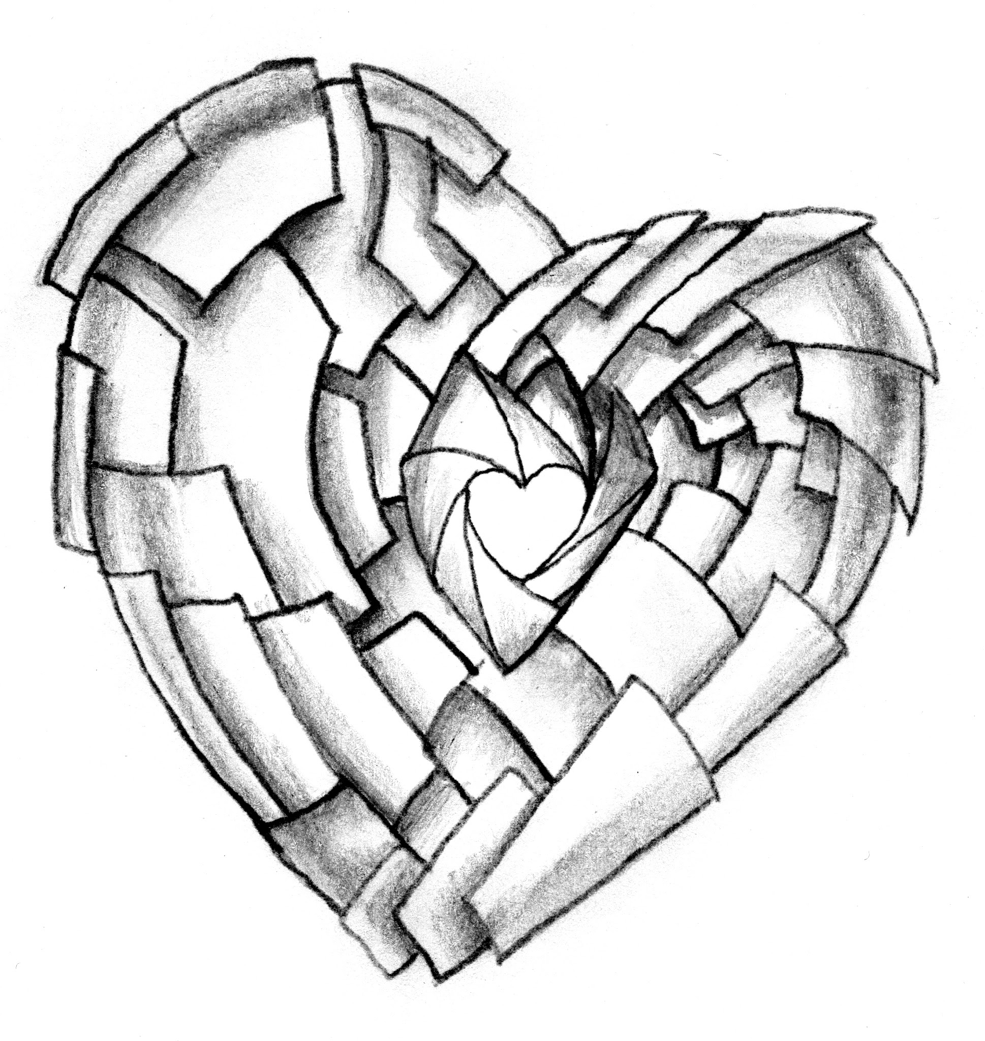 Heart With Roses Drawing At Getdrawingscom Free For Personal Use