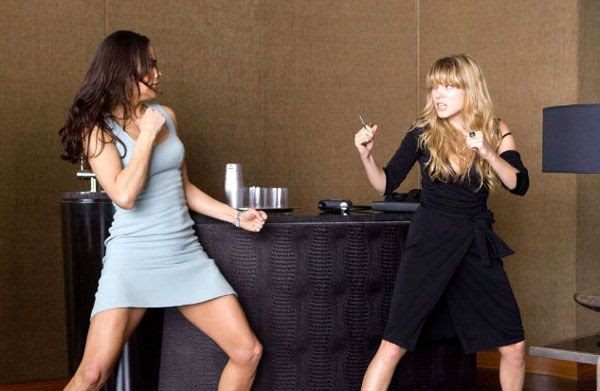 IMF agent Jane Carter (Paula Patton) brawls with assassin Sabine Moreau (Léa Seydoux) in MISSION: IMPOSSIBLE - GHOST PROTOCOL.