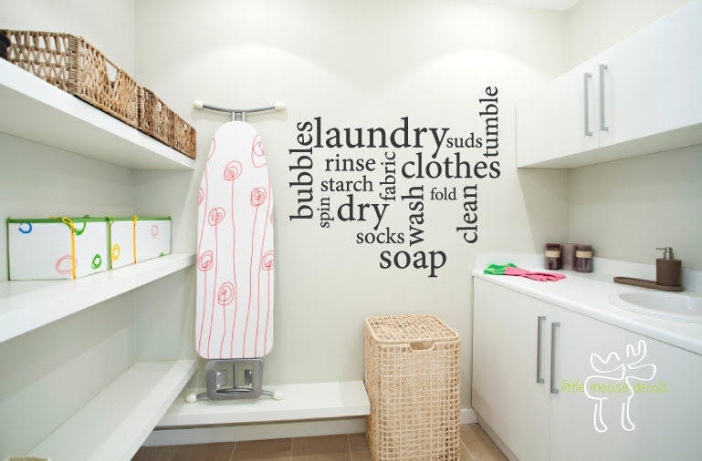 Popular items for laundry room decals on Etsy