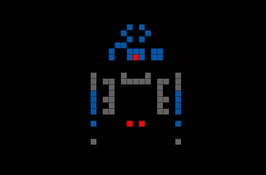 Dessin Pixel Star Wars Bb8 Image Gratuite I