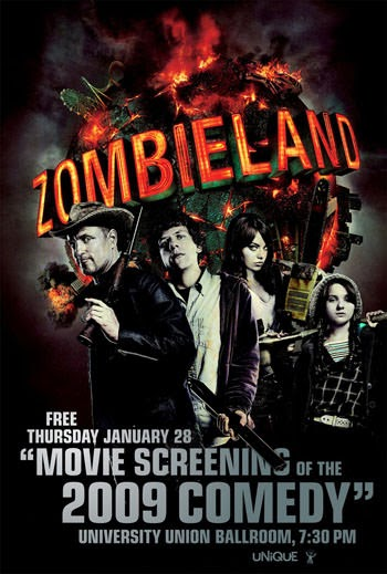 Zombieland 2009 Dual Audio ORG Hindi 300MB BluRay 480p