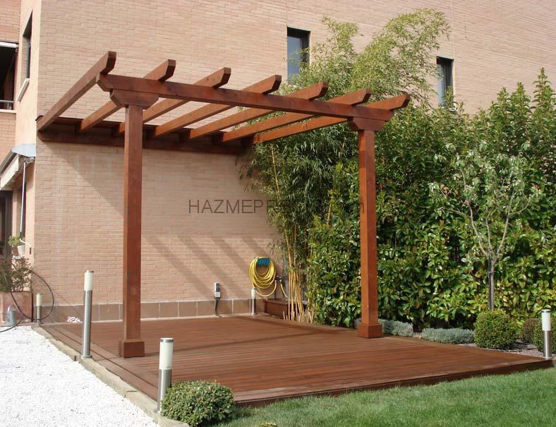 Casas de madera prefabricadas pergolas de pared baratas for Paredes de madera para jardin