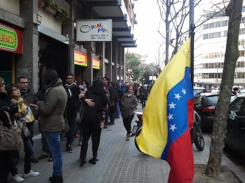 Colas para votar en Barcelona