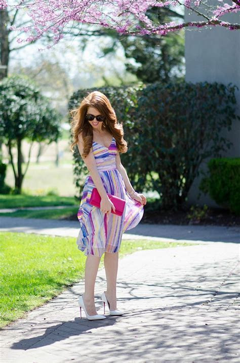 Striped Midi Dress   Jimmy Choos & Tennis Shoes
