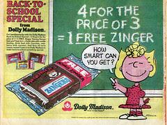 Peanuts Zingers ad