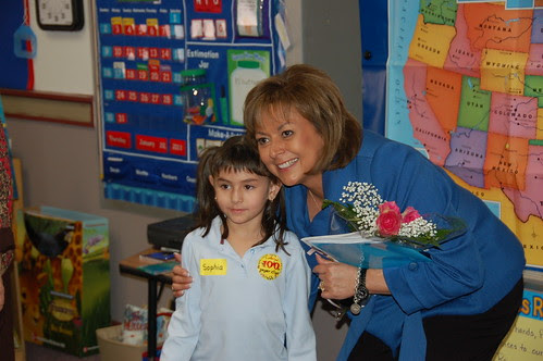 Governor Martinez poses for a picture with Sophia.