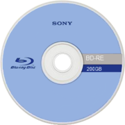 Front of an experimental Blu-ray Disc