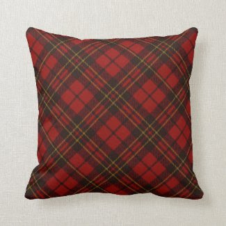 Adorable Red Christmas tartan look pillow