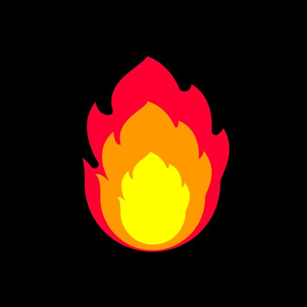 かわいい炎の無料イラスト商用フリー オイデ43