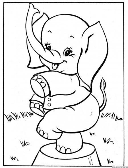Dibujo De Un Elefante De Circo