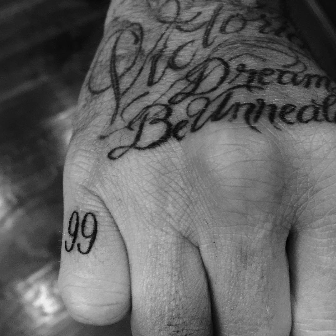 David Beckham Sleeve Tattoos Meaning Pictures Of Each Arm Tattoo