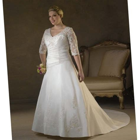 Full figured wedding dresses with sleeves (update July