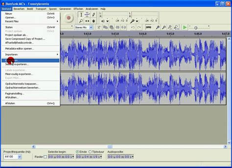export audacity files aup  mp files youtube