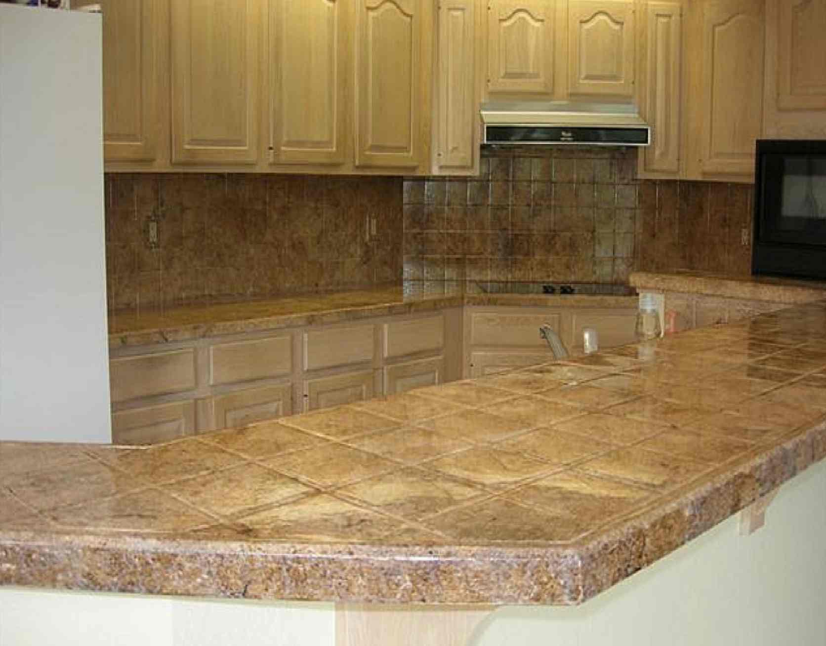 Ceramic Tile Kitchen Countertop