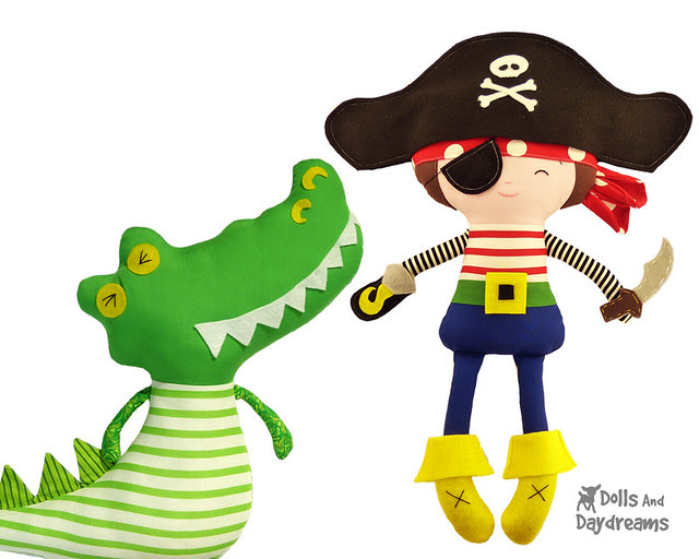 Captin Hook and Crocodile
