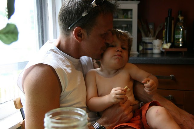 Oliver and daddy **