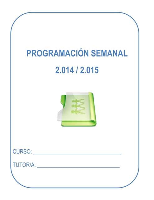 PLANTILLA PROGRAMACIÓN CURSO 2014/2015