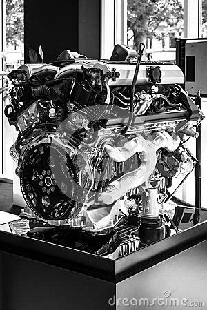 Engine V12 DOHC (BMW N73) Of The Rolls-Royce. Editorial