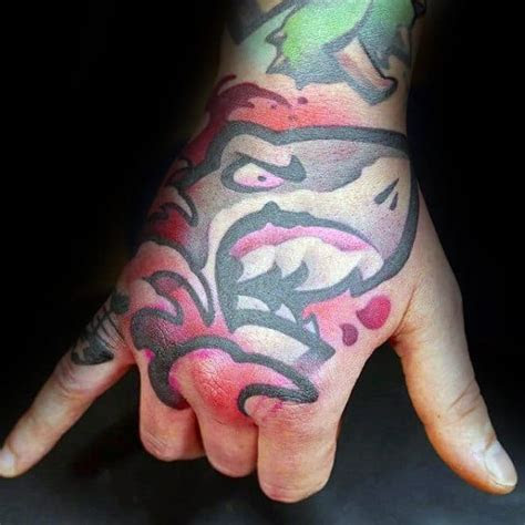 unique hand tattoos men manly ink design ideas