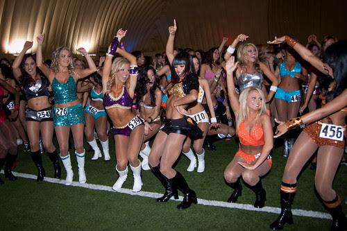 Houston Texans cheerleader tryout 2010