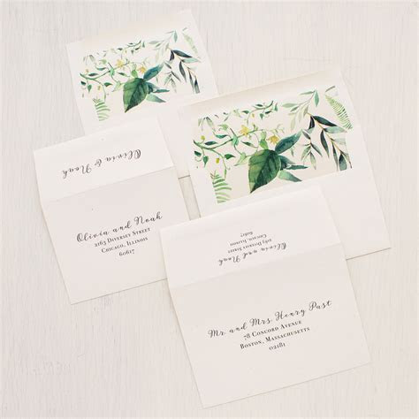 Botanical Garden Wedding Invitations   Beacon Lane