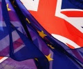 European_Union_flag_and_UK_United_Kingdom_British_flag