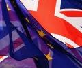 European_Union_flag_and_UK_United_Kingdom_British_flag