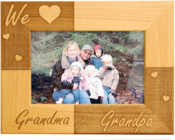 Classic We Love Grandparents Frame Name Picture Frames