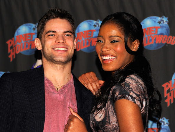 Jeremy Jordan and Keke Palmer visit Planet Hollywood Times Square on January 13, 2012 in New York City.