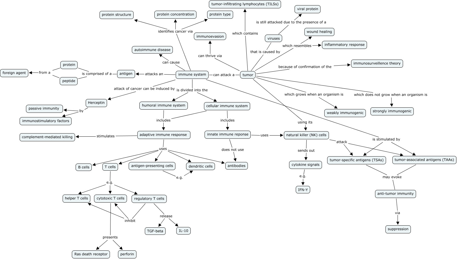 NEW IMMUNE SYSTEM CONCEPT MAP