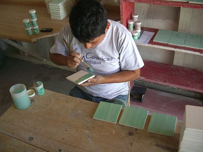 Making Hand Painted Ceramic Field Tile - Step 5