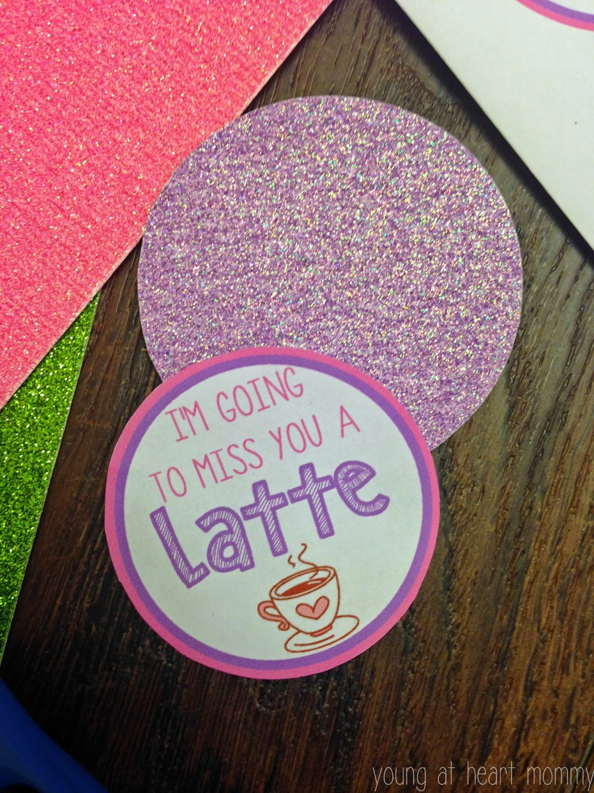 Im Going To Miss You A Latte Coffee Themed Gift Printable