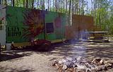 Spirit Fire Park mural wall / safety wall; Broken Vulture Art.