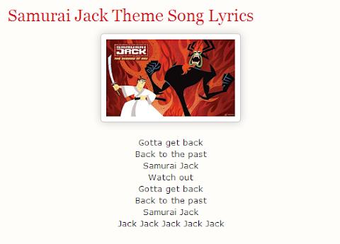 Samurai Jack Theme Song Lyrics