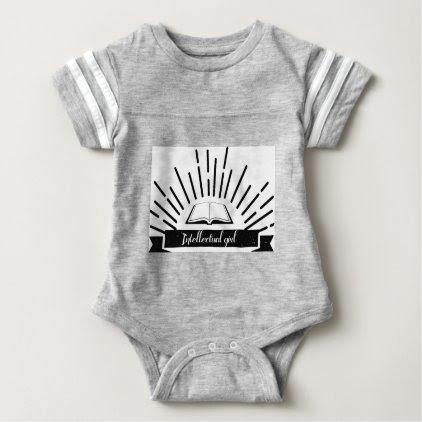 Intellectual Girl Funny Nerd Slogan Print Baby Bodysuit