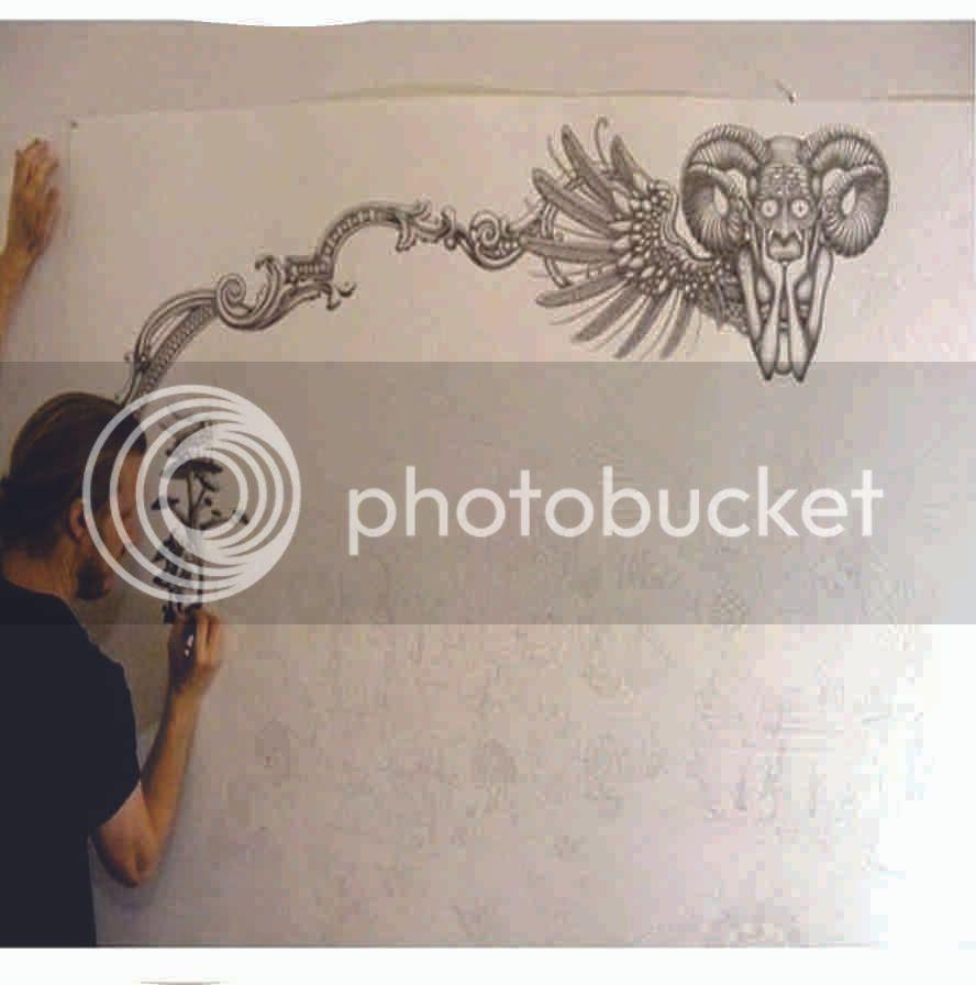 80 Gambar Di Tembok Pake Pensil Terbaru
