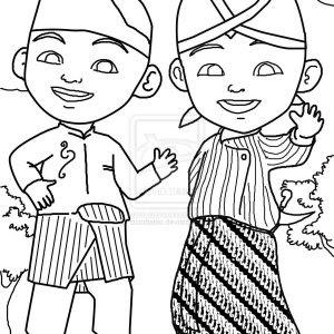 Koleksi Gambar Mewarnai Upin Dan Ipin Azhan Co