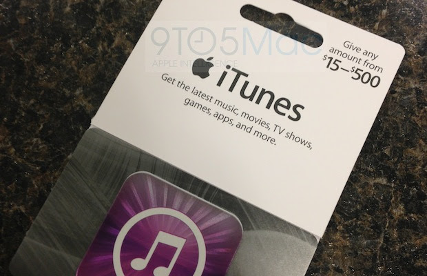 Variable iTunes gift cards available just in time for holiday shopping