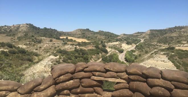 Trinchera en el Monte Irazo