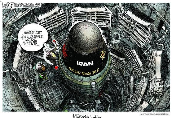 Editorial cartoon on Iran nuclear arms race