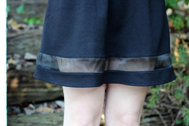 Mesh Inlay Skater Skirt