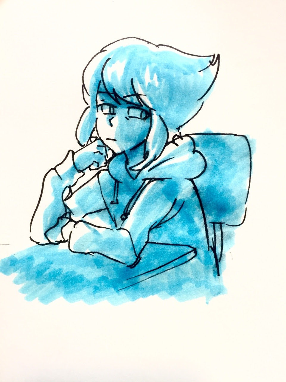I'm starting to see a pattern with how I've been feeling of that makes fucking sense Idk why I like to draw lapis in hoodies maybe I just like hoodies in general lol