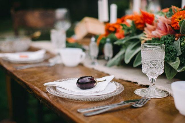 eggplant table seating
