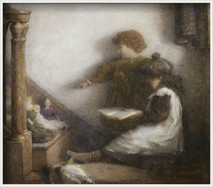«The Young Schoolmistress and Her Assistant». Harry E. Jones (British)