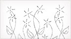 Daisy Garden Embroidery Pattern for Drawstring Bags