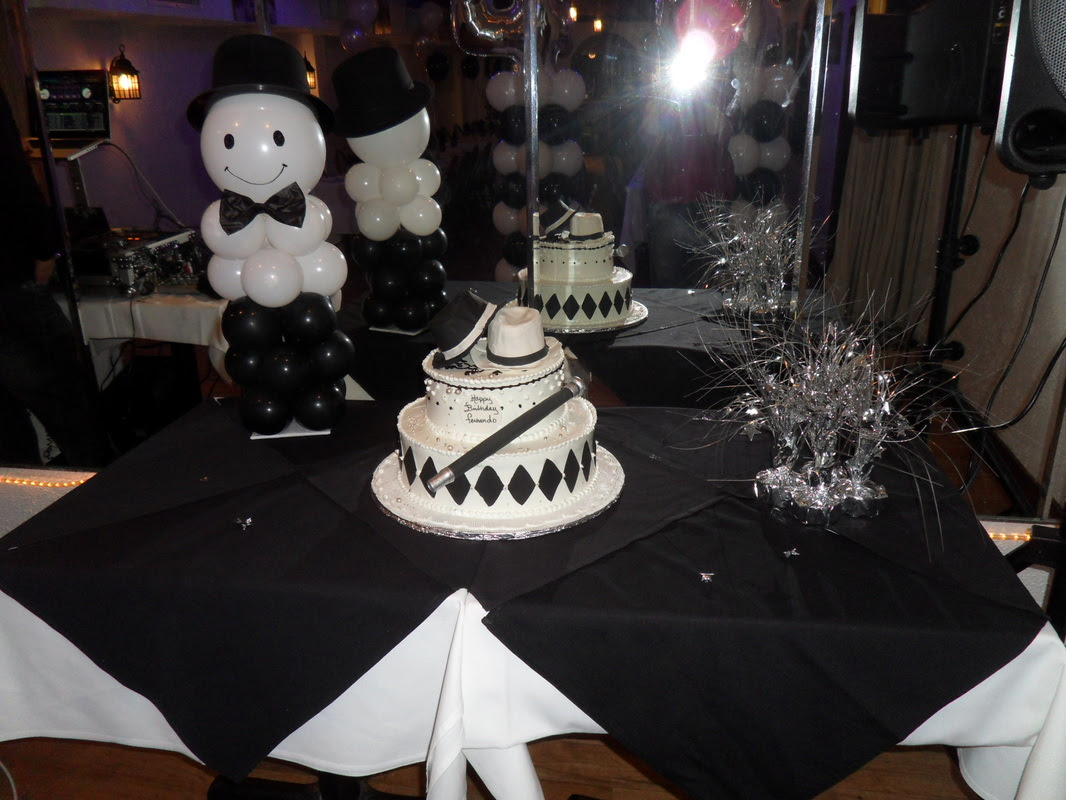 WHITE, SILVER AND BLACK - PARTY DECORATIONS BY TERESA