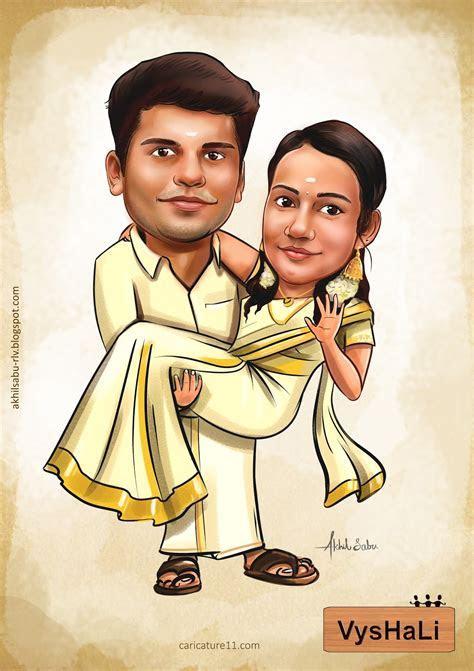 Wedding Caricatures   Akhil Sabu