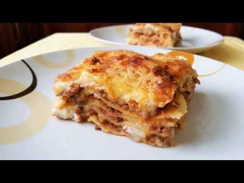 Λαζάνια με κιμά και εύκολη κρέμα (Βίντεο)