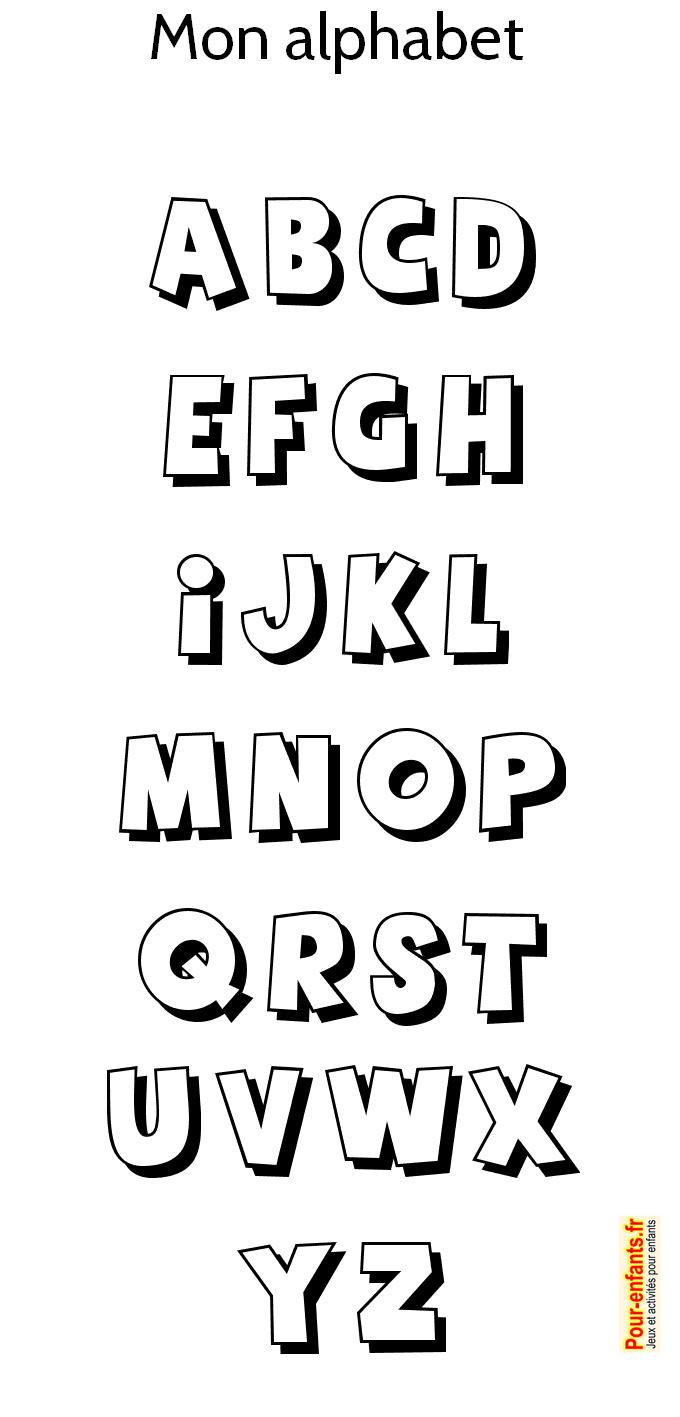 Alphabet à Imprimer Pour Colorier Coloriage Des Lettres De L