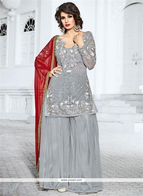 Buy Observable Gold Zardosi Work Grey Designer Pakistani